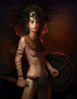 warrior by gorec