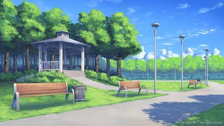 Sakura Cupid - Park by Badriel