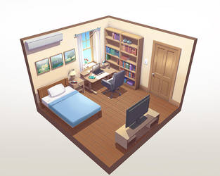 Small bedroom by Badriel