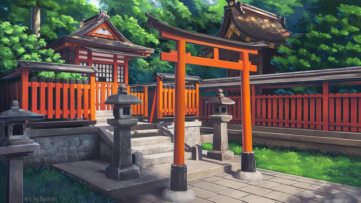 A Shinto shrine by Badriel