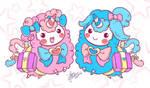 Alpaca Twins Doodle by OracleSaturn