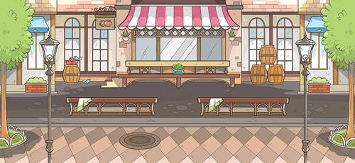 Euro Cafe Background by OracleSaturn