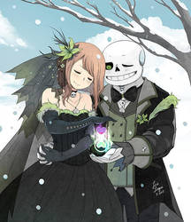 Clockwise Winter Wedding by OracleSaturn