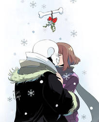 Mistletoe Kiss by OracleSaturn