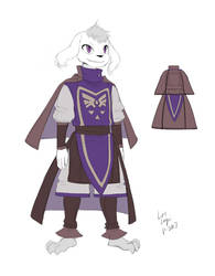 CW Asriel Costume Reference by OracleSaturn