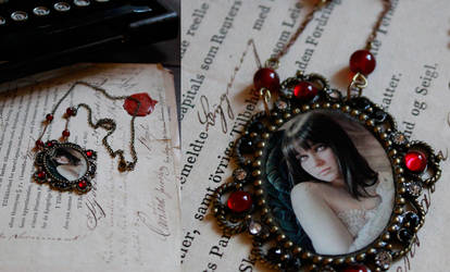 Vampire Romance Necklace by IdaLarsenArt