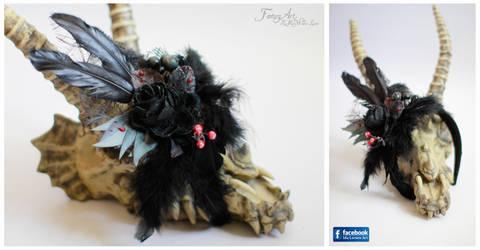 Queen of the Night Headpiece by IdaLarsenArt