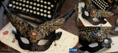 Horned Satyr Mask by IdaLarsenArt