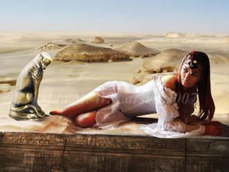 Queen of the Nile by IdaLarsenArt
