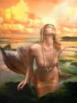 Mermaid Isle by IdaLarsenArt
