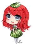 melon keychain by Yokuna-chan