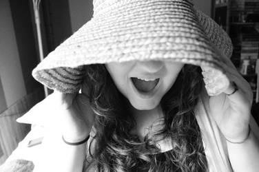 Fun with a straw hat. by shineslikethesun