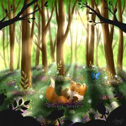Spring fox by NuBeazul87