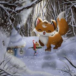 Winter fox by NuBeazul87