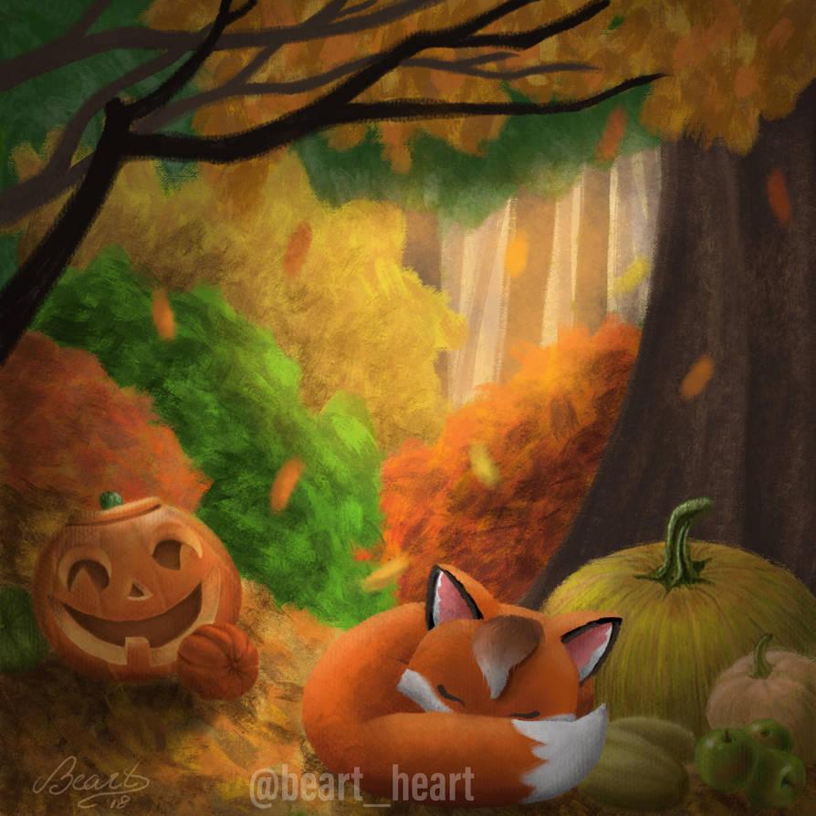Autumn fox by NuBeazul87