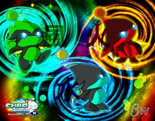 Chao World Season 3 - Three Ninjas Wallpaper. by Blizzard-White