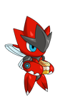[Fan Art] Chibi Mega Scizor by Blizzard-White