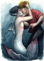 Merman's Kiss by Lalawu29
