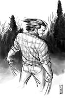Wolverine Grayscale by Supajoe