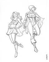Supergirl_Power Girl by Supajoe
