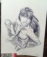 Live Art Zoe by Supajoe