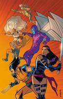 90s X-men in Color by Supajoe