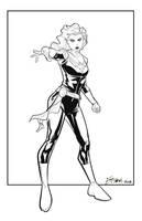 Captain Marvel Commission by Supajoe