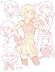 Pokespe doodles #1: Yvonne by Sallymon