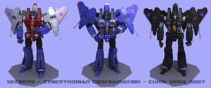 Seekers Cybertronian Config by kurisama