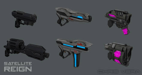 Satellite Reign - Pistol Weapon Set by kurisama