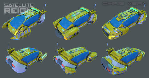 Satellite Reign - Sedan Taxi by kurisama