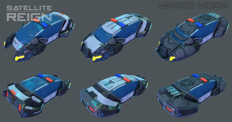 Satellite Reign - Sedan Police by kurisama