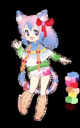 Rainbow Neko [Paypal Only!] by SheepieAdopts