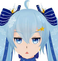 Snow Miku add face Expression control by lisomn