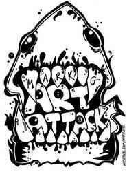 Art Attacks Shark Bite Logo by MarkG72