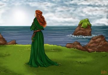 Femme celtique / Celtic Woman by illustratrice-lalex