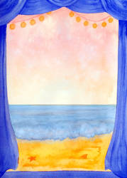 Open window on the sea by illustratrice-lalex