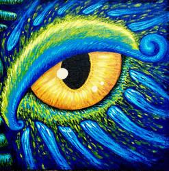 Quetzalcoatl Eye by illustratrice-lalex