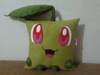 Handmade Anime Pokemon Chikorita Plush Pillow by RbitencourtUSA