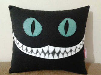 Handmade Tim Burton Cheshire Cat Plush Pillow by RbitencourtUSA