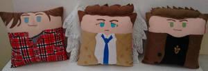 Handmade Supernatural Trio Fan Art Pillow Set by RbitencourtUSA