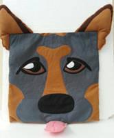 Handmade Dog Caricature Pet Pillow Cover by RbitencourtUSA