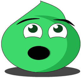 Green Slime in Awe by Evil-Genius-Prime