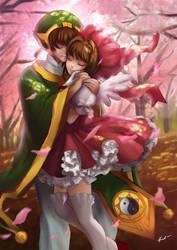 Cardcaptor Sakura  - Syaoran and Sakura by kurailah