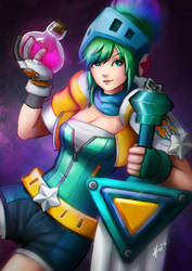 League of Legends - Arcade Skin Riven by kurailah