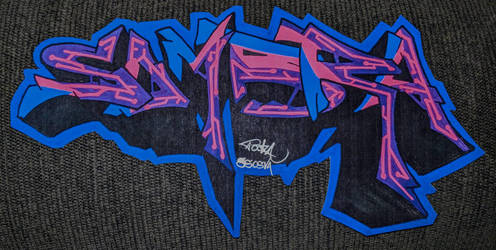 Sombra | Cyberpunk 10-inch Sticker by PookAcrylic