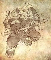 Pandaren Brewmaster by Lukali