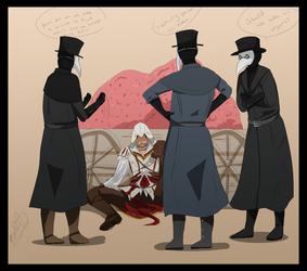 Ezio And The Plague Doctors by HiyoKinomono
