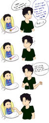 Lunch Time: Tim and Damian by IceRosePhoenix