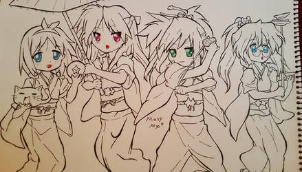 uncolored lucky star by Laviolenta